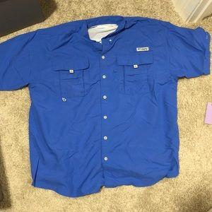 Royal blue Columbia fishing shirt